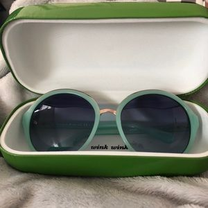 Kate Spade mint round oversized sunglasses